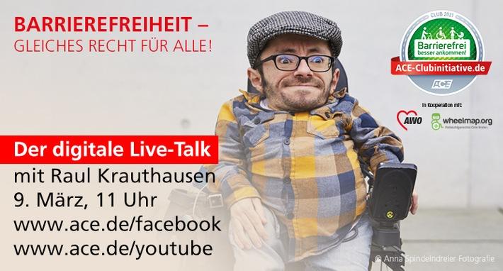 Einladung zum digitalen Live-Talk Barrierefreiheit – gleiches Recht für alle!