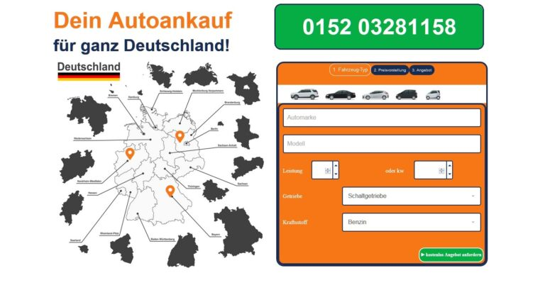 Web-Präsenz des Autoankauf Filderstadt eine Eingabemaske bereit, mit deren Hilfe ein vorläufiger Wert für den Gebrauchtwagen ermittelt werden kann.