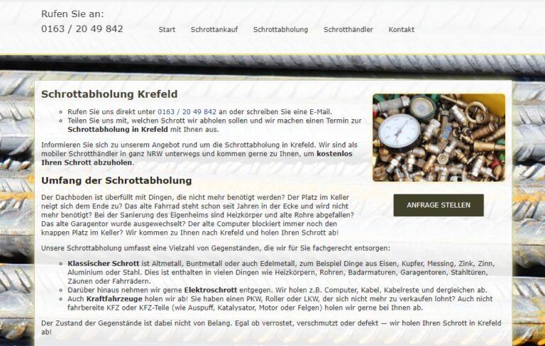 Schrottabholung Krefeld – Sammeln Sie genau alle Arten von Schrott