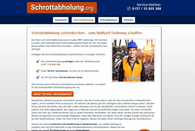 Schrottabholung in Gelsenkirchen ganze Werkstätten aus und bezahlt Ihnen einen guten Preis für das abgeholte Material