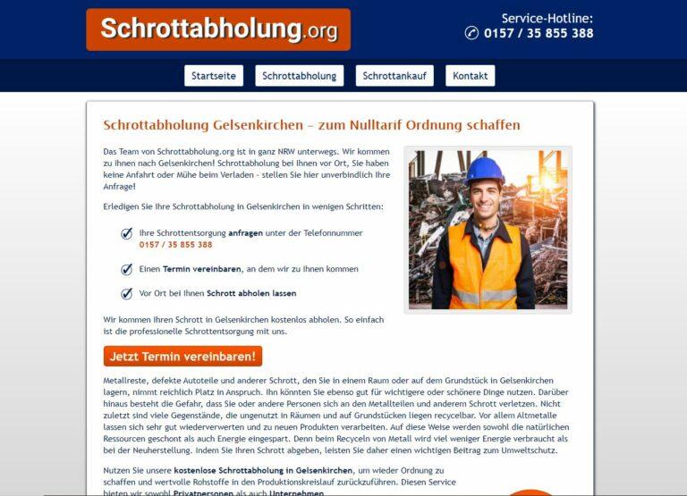 Schrottabholung in Gelsenkirchen: Wir holen selbst ab, Sie brauchen uns nur zu rufen
