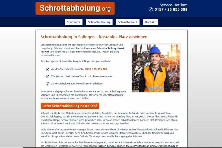 Schrotthändler in Solingen kaufen Altmetall, Haushalts- und Elektroschrott