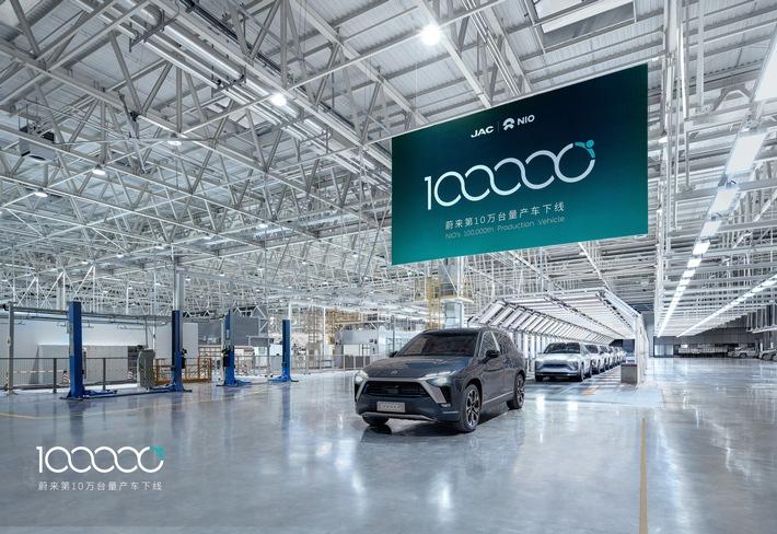 NIO feiert wichtigen Meilenstein: Produktion des 100.000sten Premium-Elektrofahrzeugs