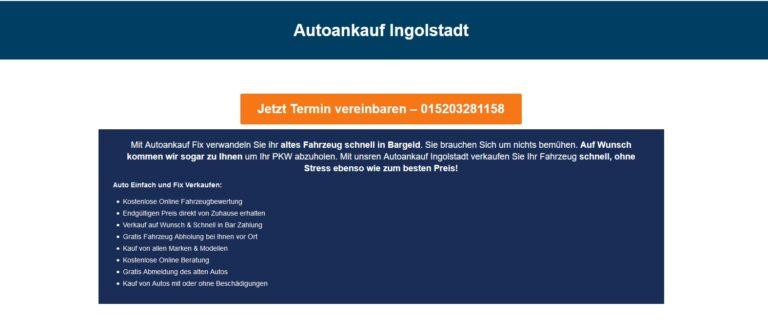 """Autoankauf Ingolstadt – Die Fachleute schätzen die Zuverlässigkeit der Ingolstadter """"Dauerläufer"""" verlässlich ein"""