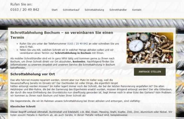 Schrottabholung Bochum : Wir kaufen und verkaufen täglich viele Schrottsorten, um diese weiter zu bearbeiten und sie dem Recycling zuzuführen