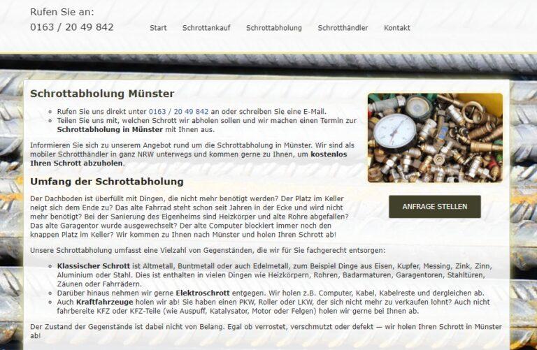 Als Schrotthändler helfen wir Ihnen, den Schrott loszuwerden in Münster