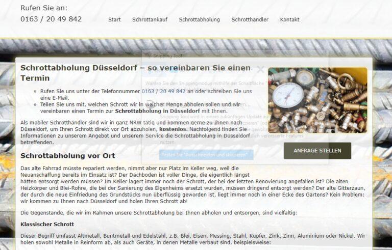 Abholung von Altmetall in Düsseldorf: Wir sammeln alle Altmetalle professionell