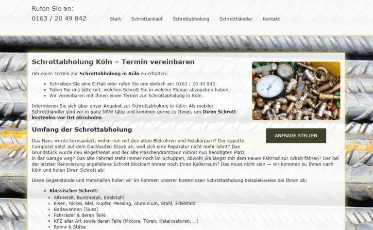 Schrottabholung Köln : Wir sind spezialisiert auf den Handel mit Schrotten und metallen sowie Metallrecycling
