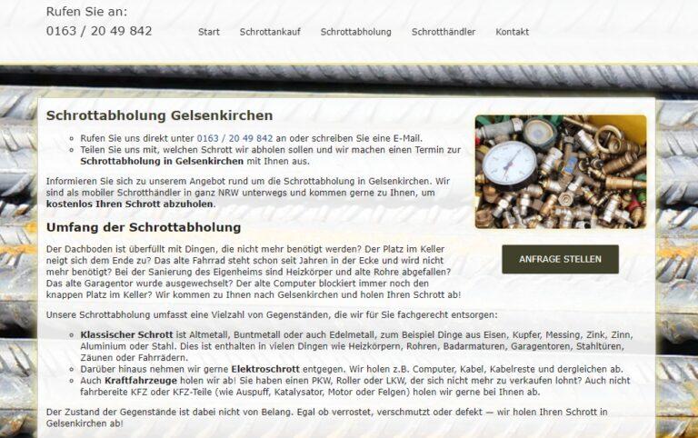 Schrottabholung in Gelsenkirchen : Unser Schrott- und Metallhandel ist der ideale Partner für Sie.