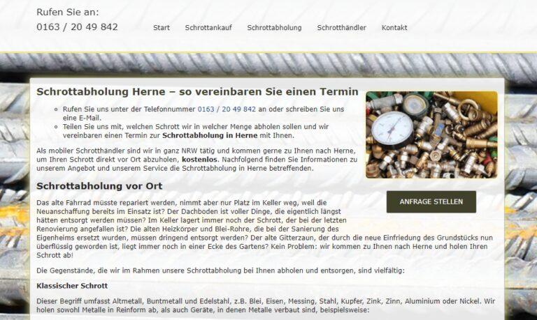 Die Schrottabholung in Herne bietet die Abholung von Schrott sowie den Ankauf von Metallschrott in ganz NRW – Schrott-Ankauf-NRW