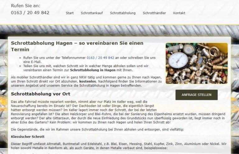 Die Schrottabholung Hagen kauft Schrott aller Art und holt ihn direkt beim Kunden ab – Schrott-Ankauf-NRW