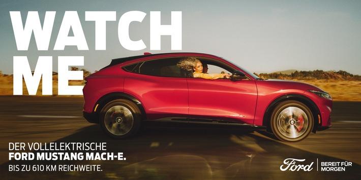 Neue Werbekampagne für vollelektrischen Mustang Mach-E