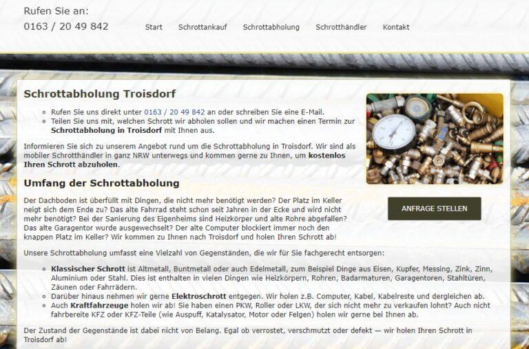 Altmetall abholen in Troisdorf : Wir holen ihr Altmetall gerne ab