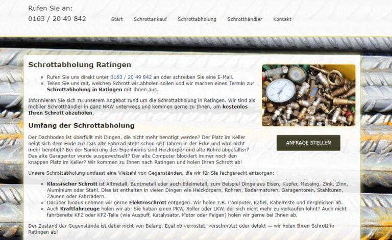Altmetall abholen in Ratingen