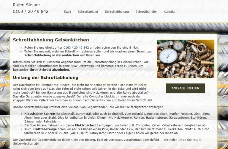 Schrottabholung in Gelsenkirchen – Schrott-Ankauf-NRW