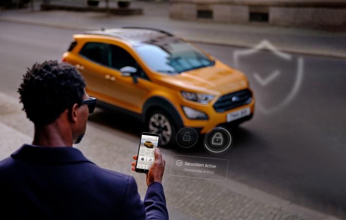 Neues Ford-Sicherheitssystem SecuriAltert informiert Pkw-Fahrzeughalter im Falle eines Einbruchs per Smartphone