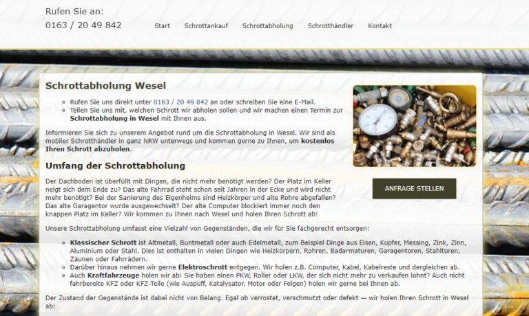 Schrottabholung in Wesel – Schrott-Ankauf-NRW
