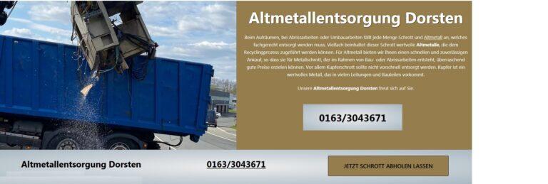 Schrottankauf Bergkamen Mobile Schrotthändler holen Schrott und Metall kostenlos ab