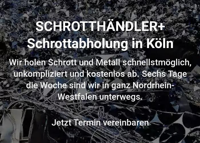 Schrottabholung in Köln holt kostenlos Ihren Schrott ab