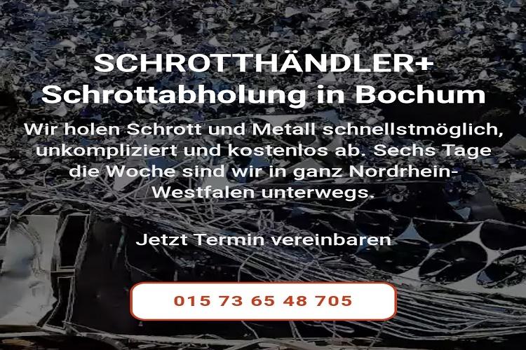 Kostenlose Schrottabholung in Bochum Wir holen Metallschrott für gewerbliche oder Privatkunde