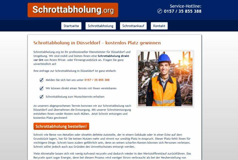 Mit Schrottabholung in Düsseldorf Haushalts- und Elektroschrott richtig entsorgen