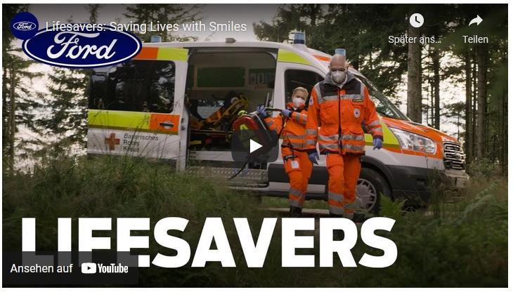 Menschlichkeit und Opferbereitschaft – Kurzfilm von Ford zeigt Rettungshelfer des Bayerischen Roten Kreuzes
