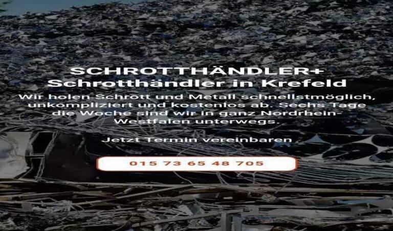 In Krefeld kauft Schrott jeder Art durch, bei ihrem Schrotthändler ein Angebot für den Kurs einzuholen
