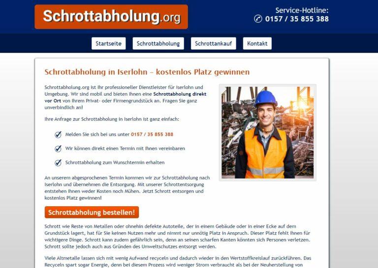 Schrottabholung Iserlohn und dem Recycling in NRW