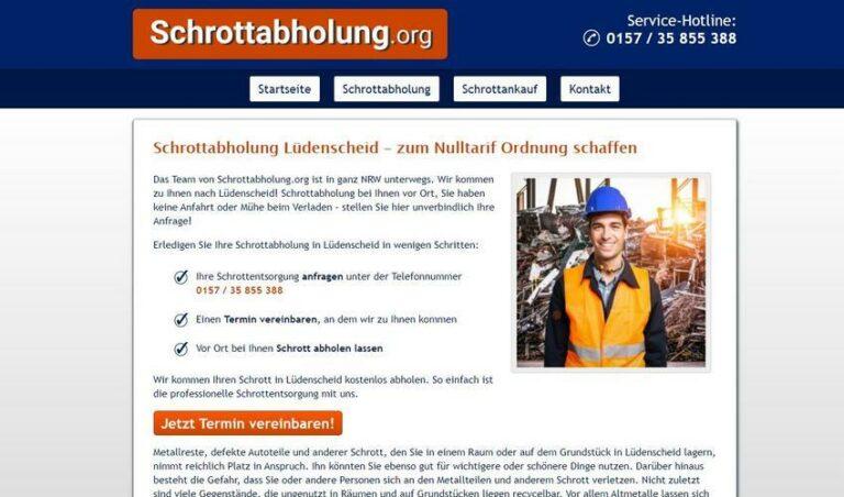 Schrottabholung in Lüdenscheid – Altmetall und andere Schrottelemente ganz einfach und unkompliziert abholen lassen.