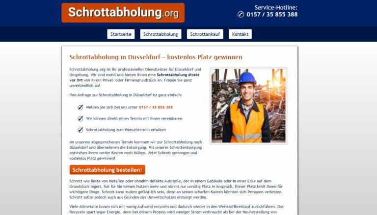In Düsseldorf das Team der Schrotthändler sind Expertin und arbeitet hochprofessionell