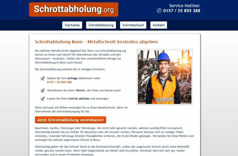 Schrottabholung in Bonn: Service zur Abholung von Schrott in Nordrhein-Westfalen Privatkunden, Gewerbekunden