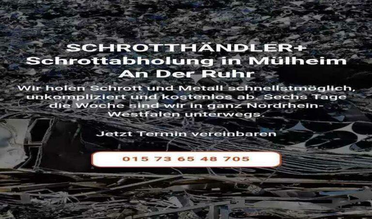 Die Schrottabholung mülheim an der ruhr für Privathaushalte und Unternehmen nicht nur in mülheim ruhr, sondern auch im gesamten Ruhrgebiet und darüber hinaus
